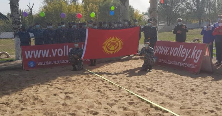 NEWLY-BUILT BEACH VOLLEYBALL COURT OPENED IN KYRGYZSTAN