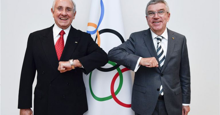 FIVB PRESIDENT MEETS IOC PRESIDENT AT OLYMPIC HOUSE