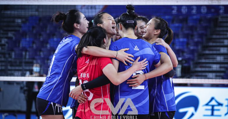 JIANGSU STUN TITLE-HOLDERS TIANJIN FOR 3 IN A ROW IN CHINESE WOMEN'S VOLLEYBALL LEAGUE
