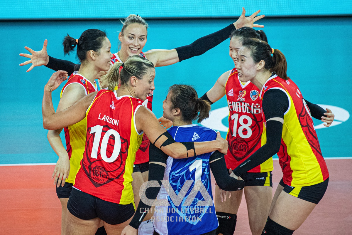 SHANGHAI RALLY TO BEAT LIAONING 3-2 FOR 3 SUCCESSIVE WINS IN CHINESE WOMEN'S VOLLEYBALL LEAGUE