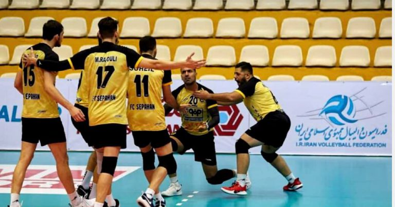 SEPAHAN MOVE TOP OF IRAN VOLLEYBALL LEAGUE