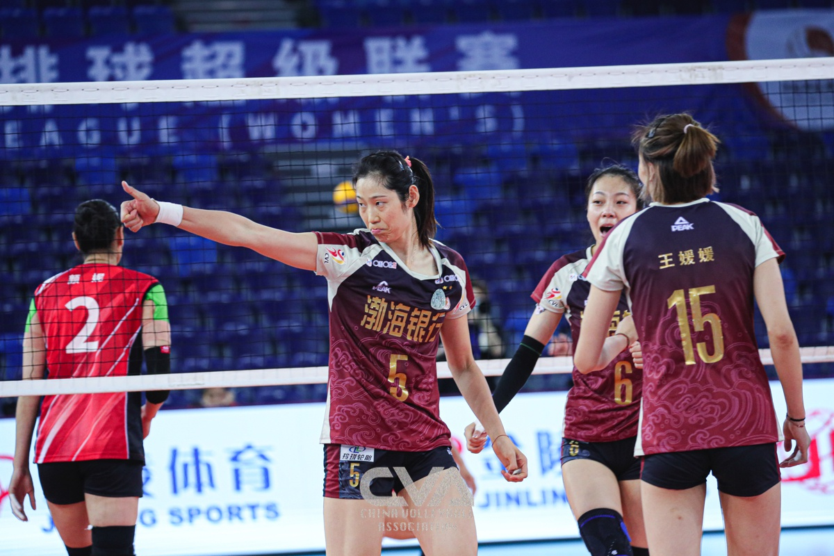 TIANJIN MOVE TO TOP OF CHINESE WOMEN'S VOLLEYBALL LEAGUE
