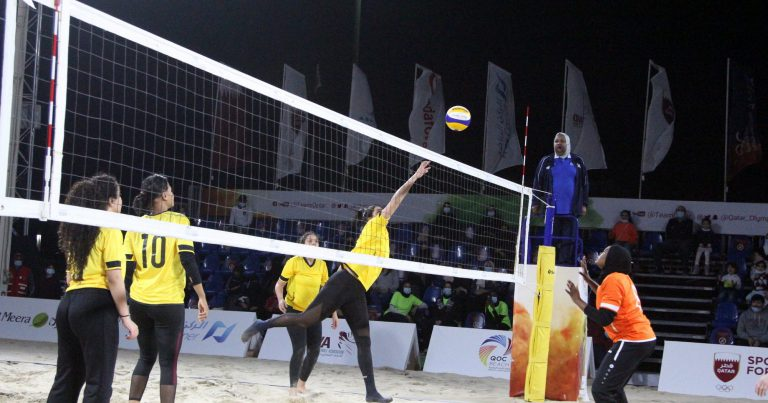 WOMEN'S BEACH VOLLEYBALL EVENT THRILLS FANS AT INAUGURAL QOC BEACH GAMES