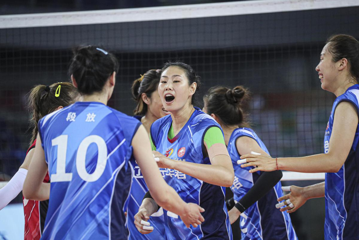 LIAONING EDGE GUANGDONG IN CHINESE WOMEN'S VOLLEYBALL LEAGUE