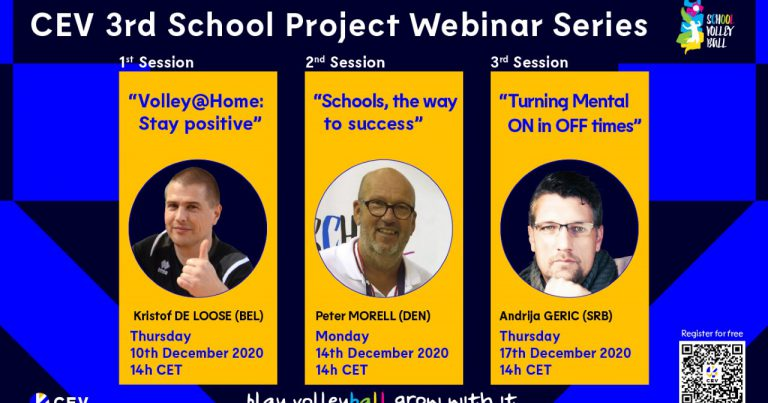 COACHES, TEACHERS AND THOSE INTERESTED INVITED TO JOIN CEV 3RD SCHOOL PROJECT WEBINARS SERIES