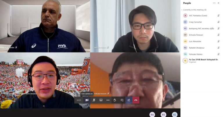 ONLINE MEETING HELD TO DISCUSS POSSIBILITY OF STAGING MAJOR BEACH VOLLEYBALL EVENTS IN ASIA AMID COVID-19