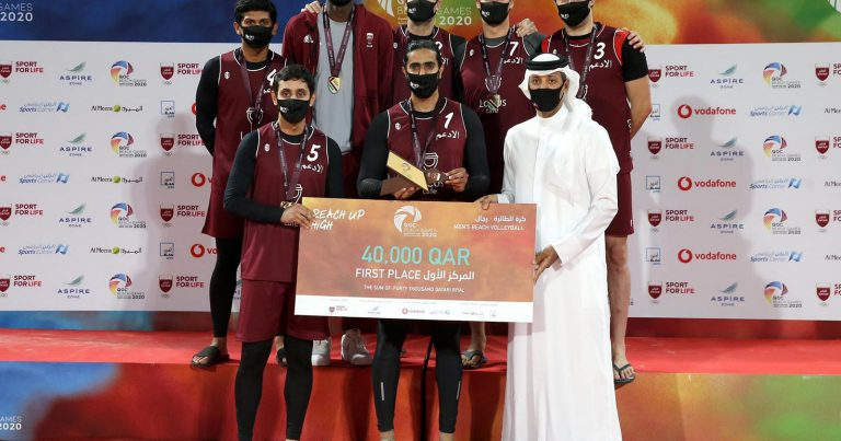 AL ADAAM, AL MAHA SHARE HISTORIC GOLD MEDALS AT QOC BEACH GAMES