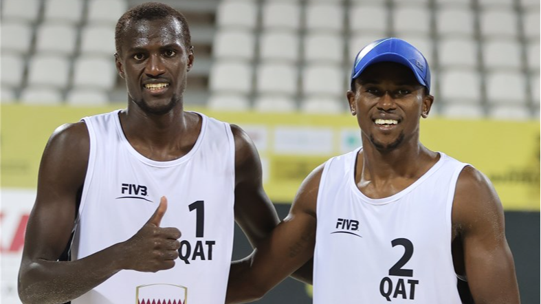 CHERIF & AHMED ATOP DOHA PODIUM