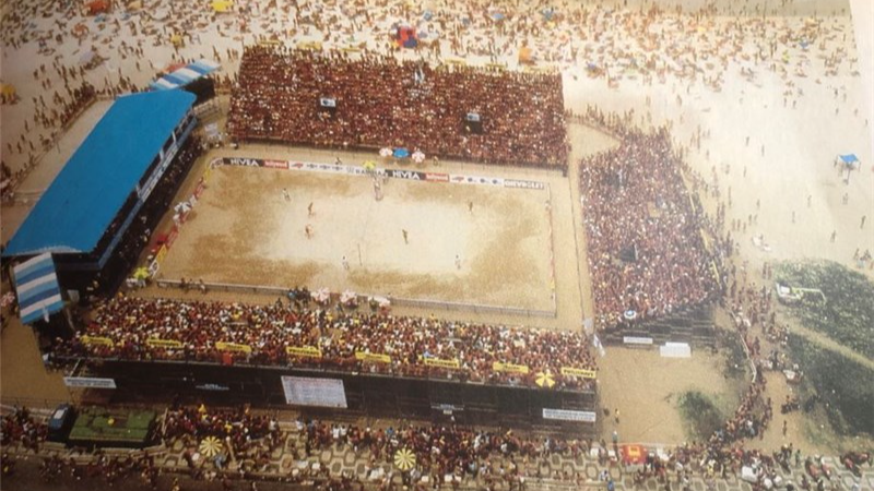 FIRST FIVB-SANCTIONED BEACH VOLLEYBALL EVENT BEGINS 34 YEARS AGO TODAY