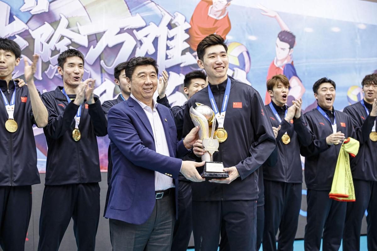BEIJING CROWNED CHINESE MEN'S VOLLEYBALL LEAGUE CHAMPIONS