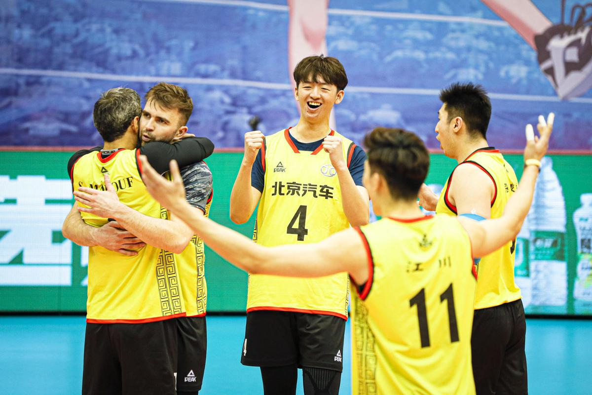 BEIJING STUN TITLE-HOLDERS SHANGHAI IN CHINESE MEN'S VOLLEYBALL LEAGUE