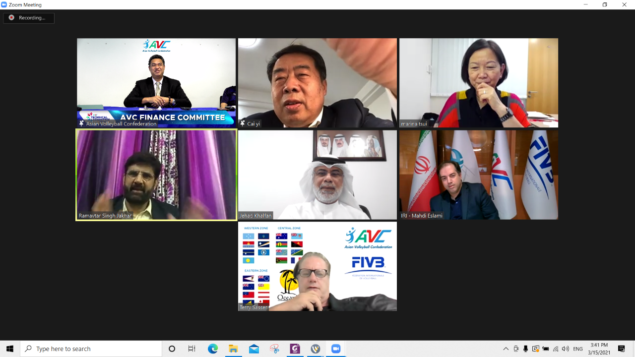 AVC FINANCE COMMITTEE CONVENES ITS FIRST MEETING VIA VIDEO CONFERENCE