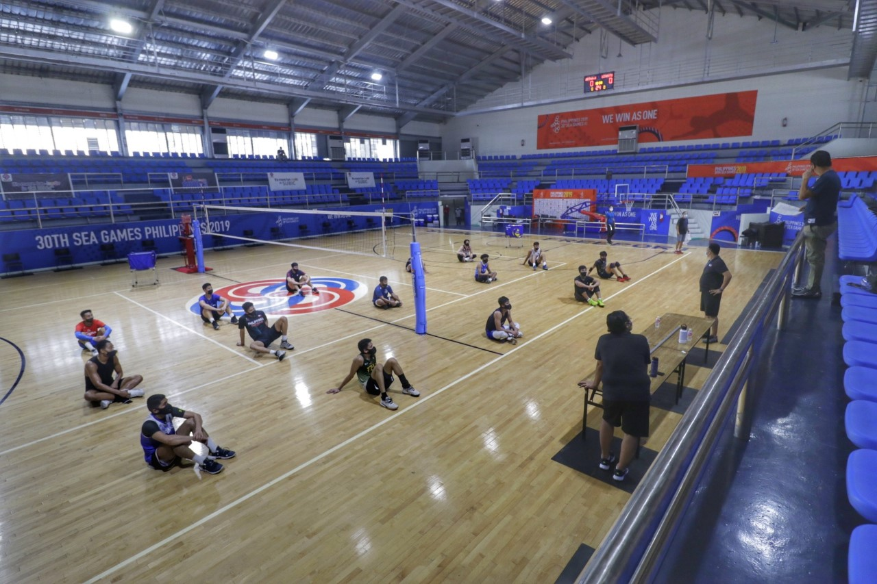 MEN'S VOLLEY ASPIRANTS PRAISE NATIONAL TEAM TRYOUTS IN SUBIC
