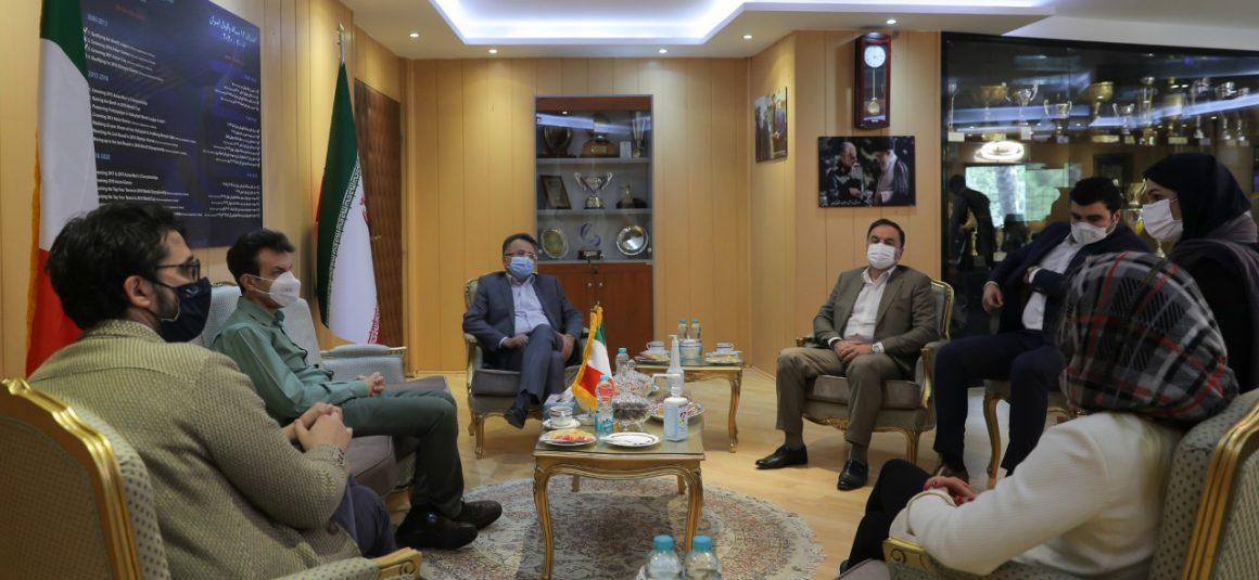IRIVF PRESIDENT AND ITALIAN AMBASSADOR TO IRAN DISCUSS VOLLEYBALL MATTERS