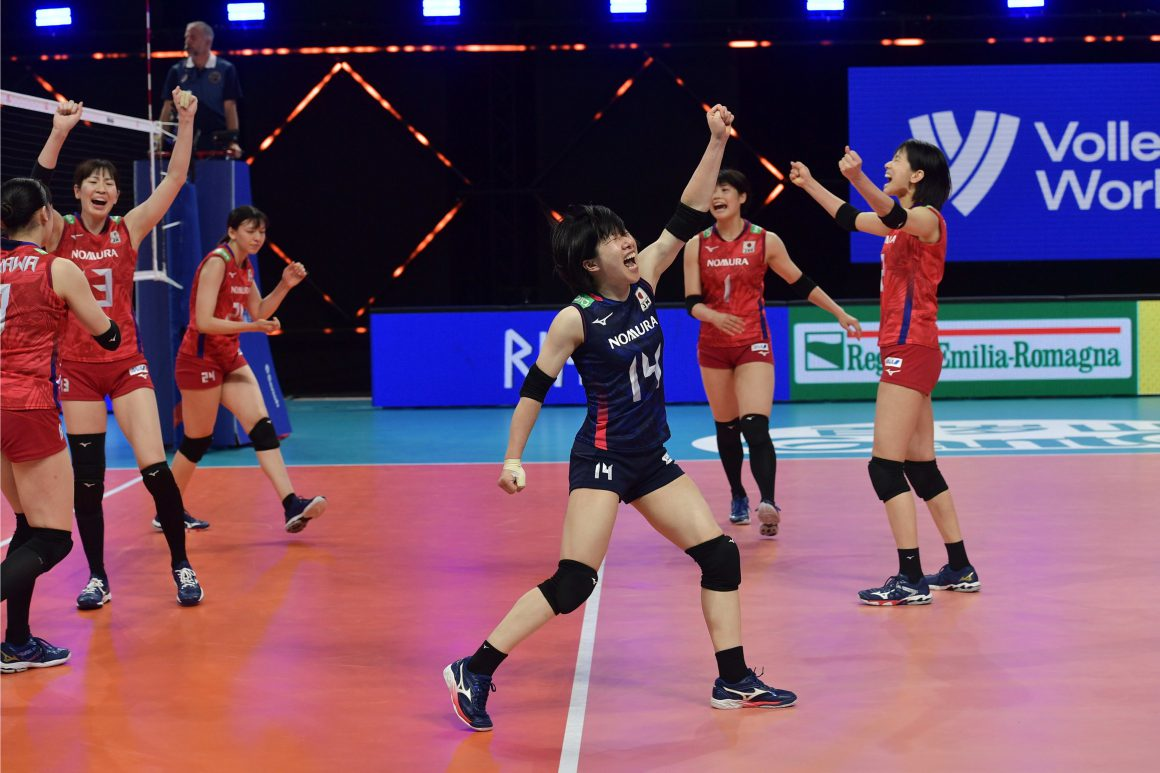 JAPAN CLAIM THREE WINS IN A ROW IN VNL
