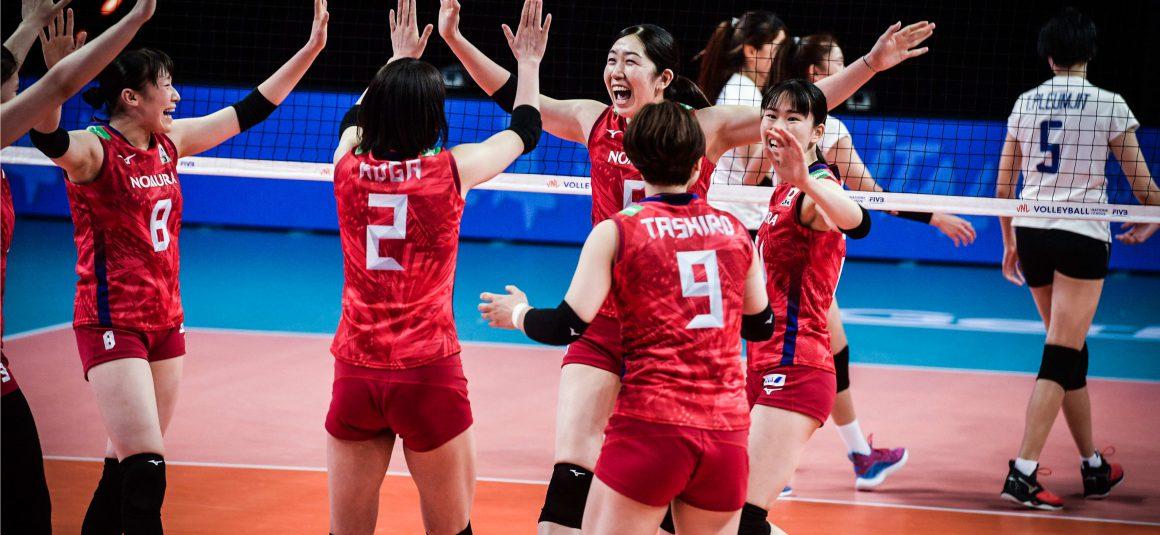 JAPAN BRUSH OFF THAILAND IN SCINTILLATING STRAIGHT SETS IN 2021 VNL