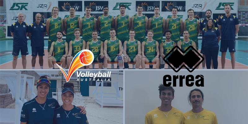 VOLLEYBALL AUSTRALIA TO PARTNER WITH APPAREL SUPPLIER ERREA FOR ITS NATIONAL TEAMS