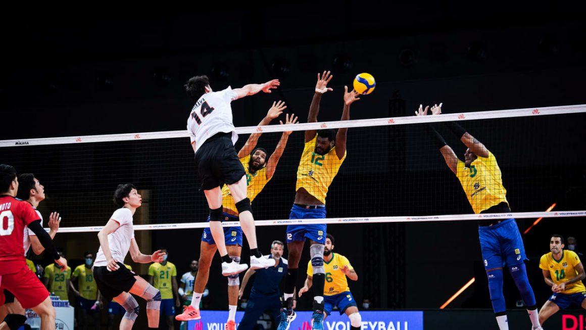 BRAZIL CLAIM FOURTH WIN AT 2021 VNL AFTER 3-0 DEMOLITION OF JAPAN