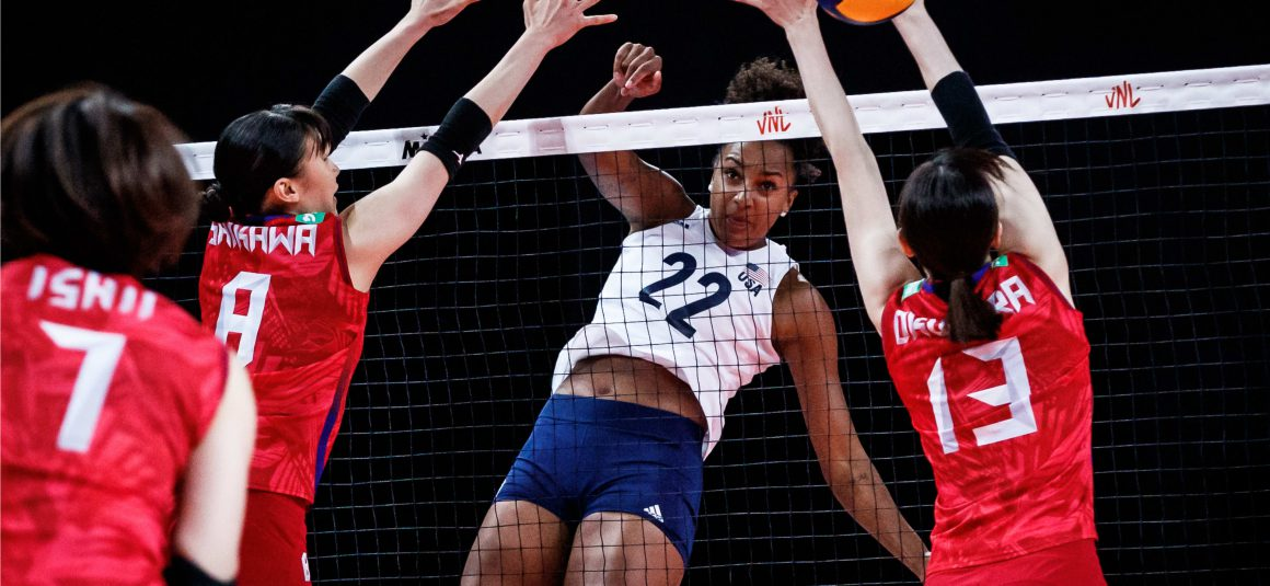 USA STRUGGLE TO BEAT JAPAN IN HARD-FOUGHT THREE-SETTER