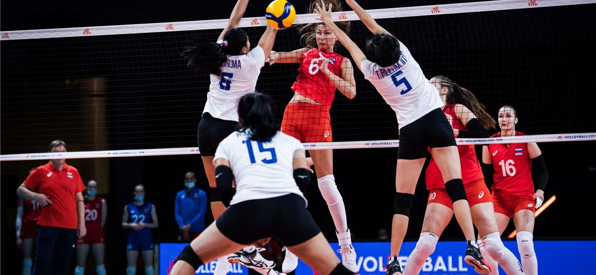 RUSSIA DEMOLISH DETERMINED THAILAND 3-1 FOR THEIR 5TH WIN AT 2021 VNL