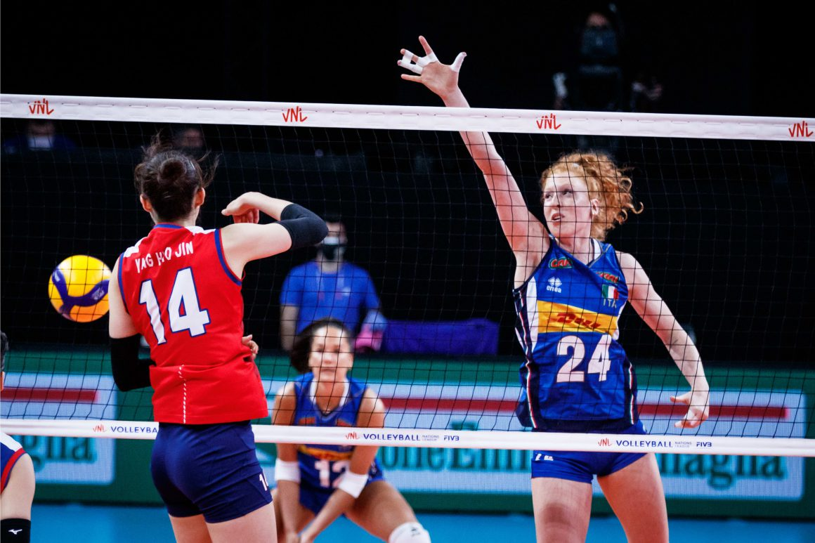 ITALY TASTE FIRST VICTORY AT 2021 VNL AFTER 3-1 ROUT OF KOREA