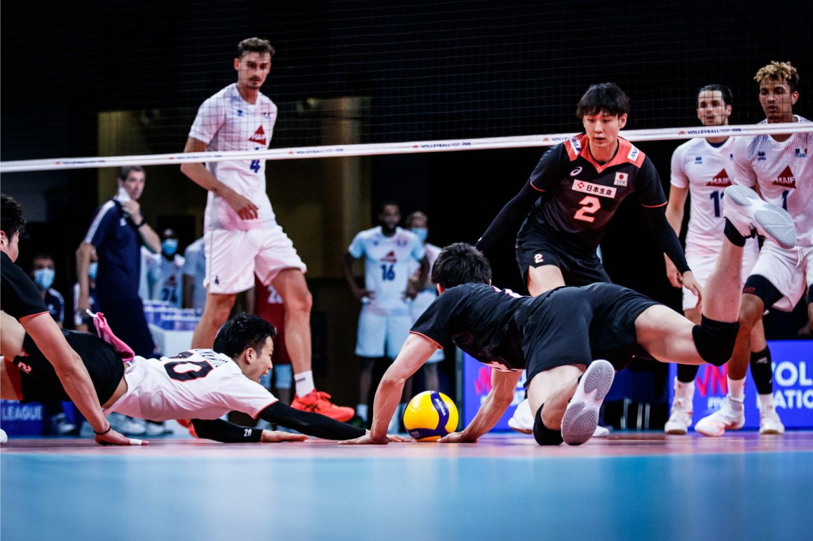 JAPAN BEATEN NARROWLY BY FRANCE FOR THREE LOSSES IN A ROW AT 2021 VNL