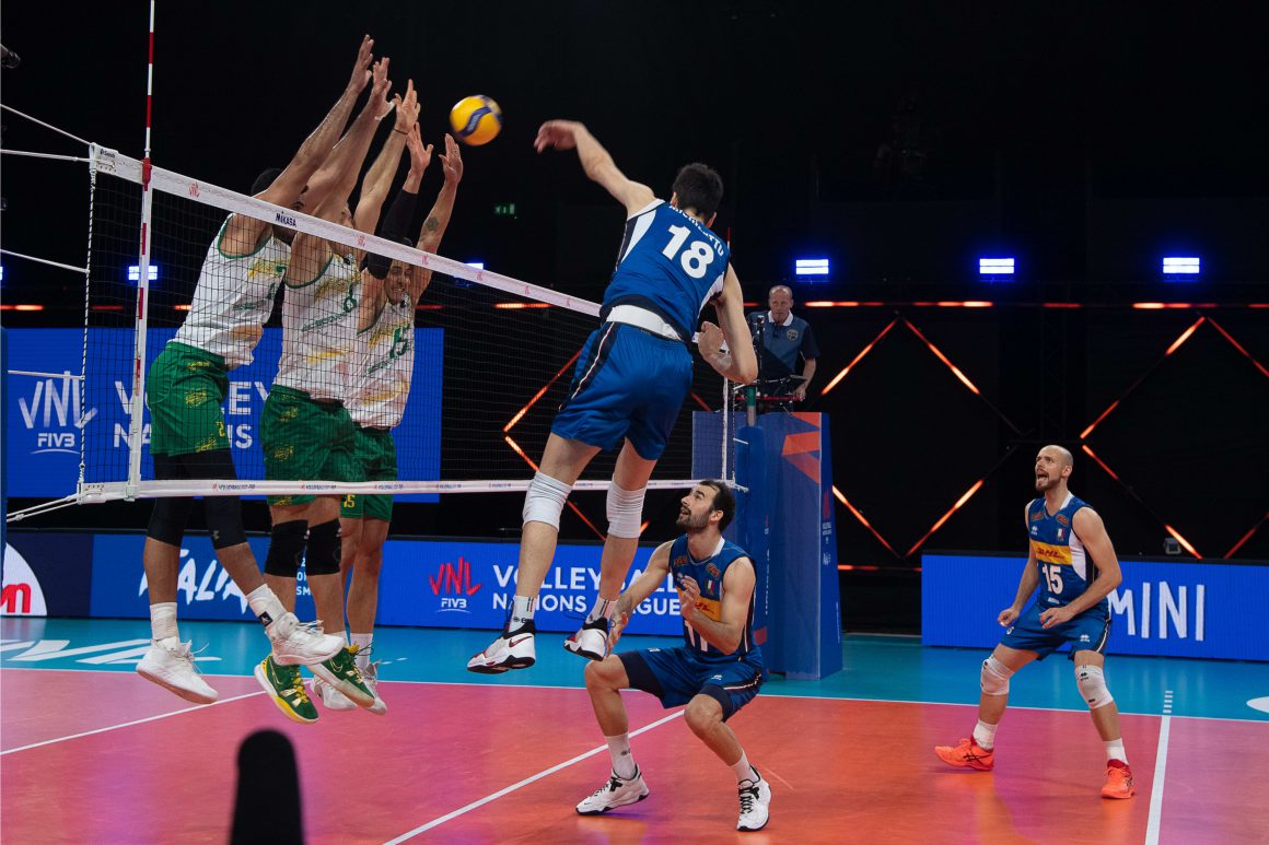 DESPITE GALLANT FIGHT, DETERMINED VOLLEYROOS GO DOWN TO ITALY