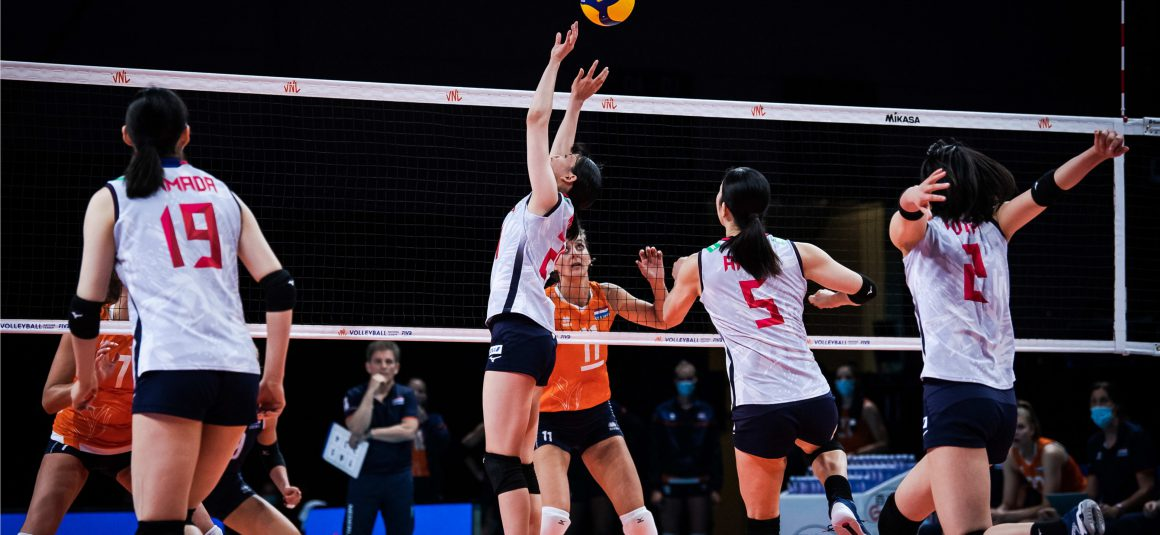 JAPAN OUTPLAYED BY NETHERLANDS FOR THEIR SECOND LOSS AT 2021 VNL