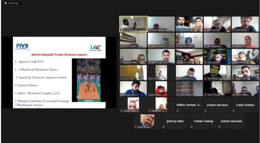 ONLINE FIVB COACHES COURSE LEVEL 2 UNDER WAY IN LEBANON