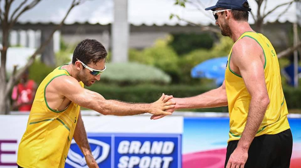 AUSTRALIA MEN'S BEACH VOLLEYBALLERS BOUNCE BACK INTO GAMES FOR FIRST OLYMPICS SINCE BEIJING