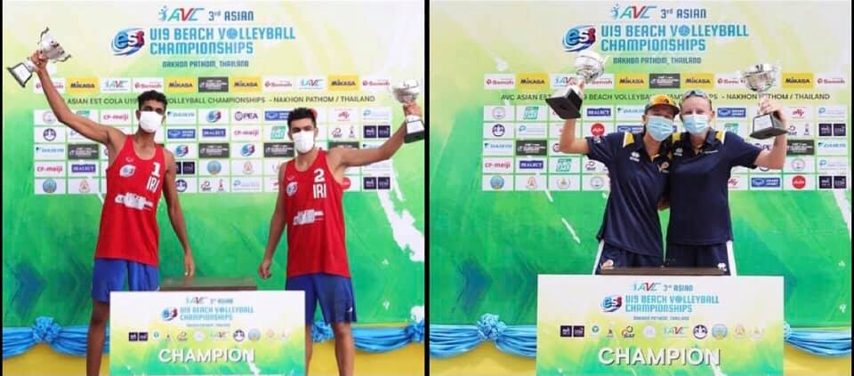 IRAN, AUSTRALIA SHARE TOP HONOURS AT 3RD ASIAN U19 BEACH VOLLEYBALL CHAMPIONSHIPS IN THAILAND