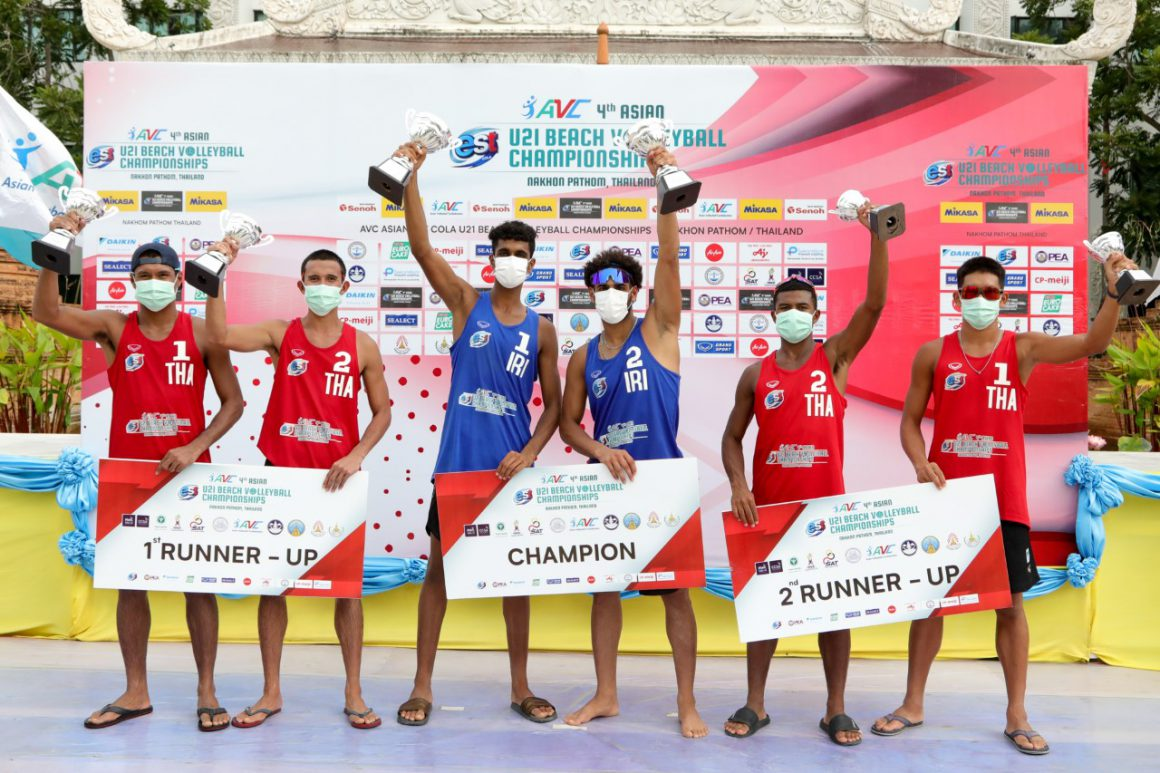 IRAN, AUSTRALIA SHARE TOP HONOURS AT ASIAN U21 BEACH VOLLEYBALL CHAMPIONSHIPS FOR BACK-TO-BACK TITLES IN THAILAND
