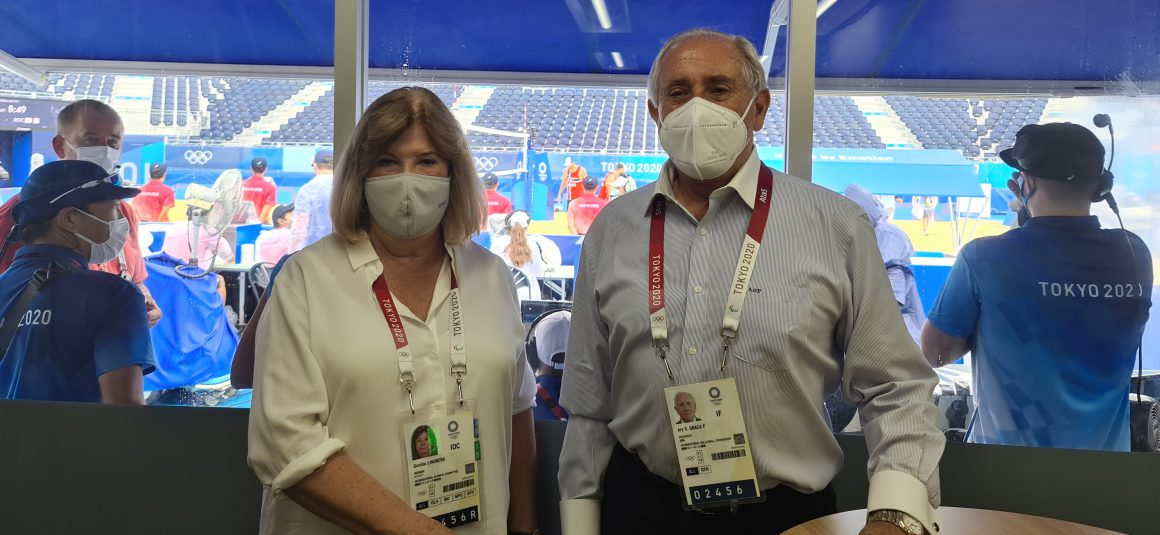 FIVB PRESIDENT WELCOMES SPORTS LEADERS TO EXPERIENCE VOLLEYBALL AND BEACH VOLLEYBALL ACTION AT TOKYO 2020