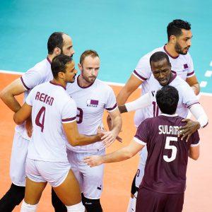 QATAR'S CLUTCH PLAYS SPUR STRAIGHT-SET WIN ON BAHRAIN