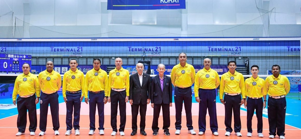 REFEREES APPOINTED FOR ASIAN MEN'S CLUB CHAMPIONSHIP NOW OFFICIATING POOL STAGE MATCHES IN THAILAND