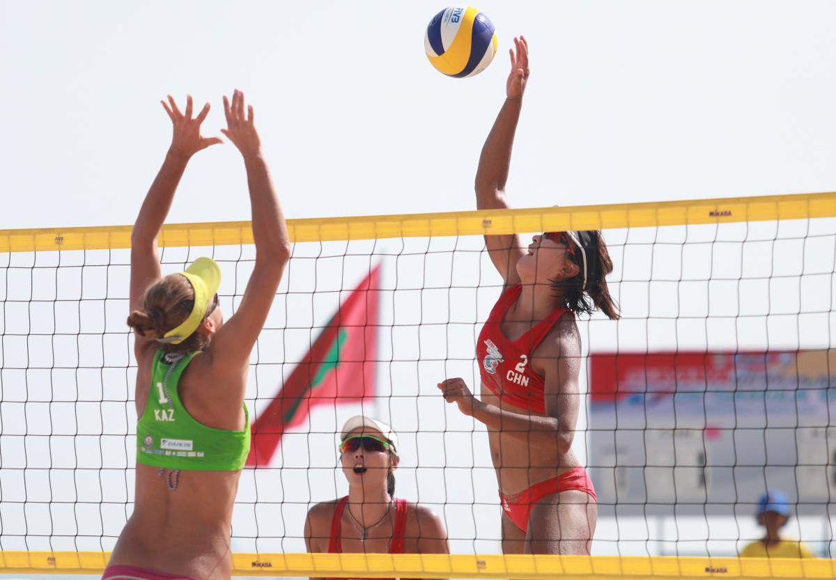 beach tour Asian volleyball