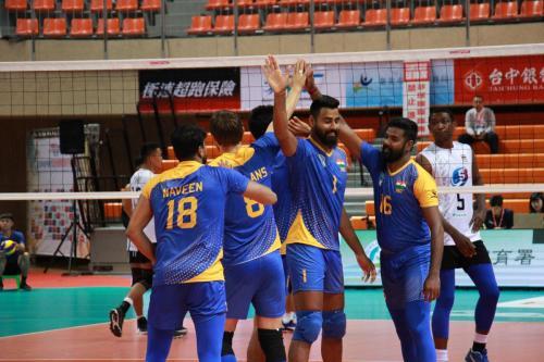 印度隊慶祝得分(IND)。(中華排協提供)