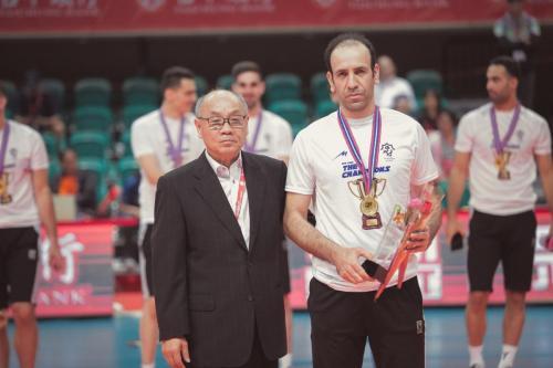 最佳舉球員(Best Setter)Pezeshki Parviz。(中華排協提供)