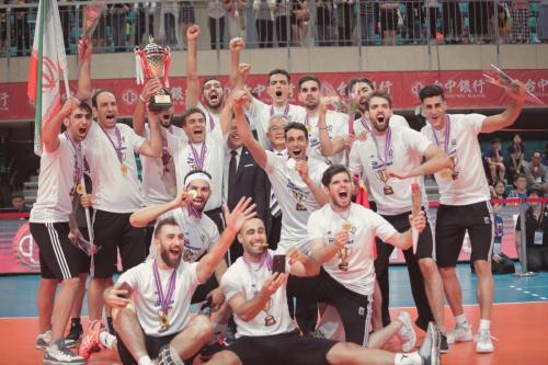 第一名 伊朗(IRI)Champion。(中華排協提供)