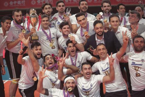 第一名 伊朗(IRI)Champion2。(中華排協提供)