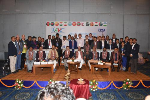 Delegates with AVC CZ President and Sports Minister of Nepal (2)