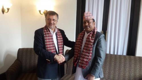 Dr. Dawarzani with Nepal Sports Minister